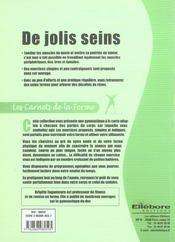 Jolis Seins - Carnets De La Forme - 4ème de couverture - Format classique