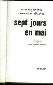 Sept Jour En Mai - Seven Days In May - Couverture - Format classique