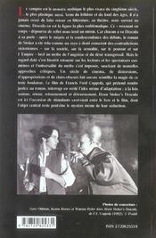 Dracula Stoker Coppola - 4ème de couverture - Format classique