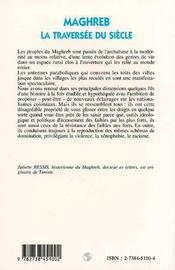 Maghreb, la traversée du siècle - 4ème de couverture - Format classique