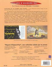 Avignon & Le Temps Des Papes - 4ème de couverture - Format classique