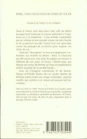 Femmes De Sable Et De Myrrhe - 4ème de couverture - Format classique