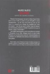Collapsus ; Survivre Avec Auschwitz En Memoire - 4ème de couverture - Format classique