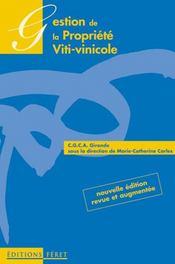Gestion De La Propriete Viti-Vinicole - Intérieur - Format classique