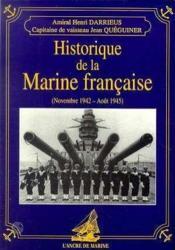 Historique Marine Francaise 42/45 - Couverture - Format classique