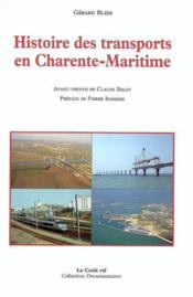 Histoire Des Transports En Charente Maritime - Couverture - Format classique