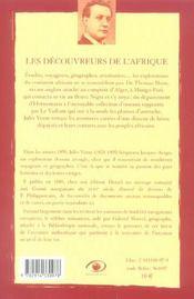 Les découvreurs de l'Afrique (2e édition) - 4ème de couverture - Format classique