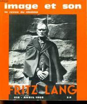 Revue De Cinema - Image Et Son N° 216 - Fritz Lang - Couverture - Format classique