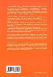 La Methode Coue - 4ème de couverture - Format classique