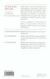 Autour du malade ; la famille, le médecin et le psychologue - 4ème de couverture - Format classique