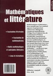 Mathématiques et littérature ; une fascination réciproque - 4ème de couverture - Format classique
