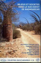 Milieu Et Societes Dans Le Sud-Ouest De Madagascar - Couverture - Format classique
