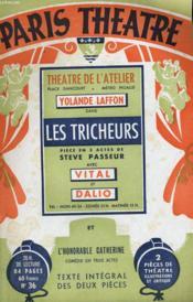 PARIS THEATRE N° 36 - LES TRICHEURS, pièce en 3 actes de STEVE PASSEUR - L'HONORABLE CATHERINE, comédie en 3 actes de SOLANGE TERAC - Couverture - Format classique