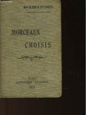 MORCEAUX CHOSIS (PROSE ET POESIE) ET EXTRAITS D'ECRIVAINS DU XIXe SIECLE - Couverture - Format classique