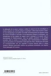 Philosophie De La Nature Philo - 4ème de couverture - Format classique