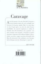 Caravaggio - 4ème de couverture - Format classique