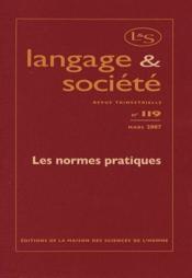 Revue Langage Et Societe N.119 ; Les Normes Pratiques - Couverture - Format classique