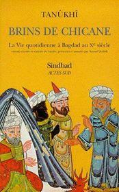 Brins de chicane ; la vie quotidienne à Bagdad au Xe siècle - Couverture - Format classique