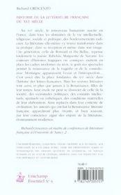 Histoire De La Litterature Francaise Du Xvi Siecle - 4ème de couverture - Format classique