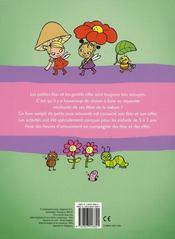 Les petites fées ; mon livre de jeux et d'activités - 4ème de couverture - Format classique