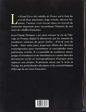 Le Grand Livre Des Volailles De France - 4ème de couverture - Format classique