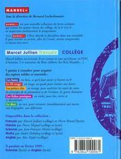 Francais College - 4ème de couverture - Format classique