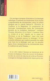 Premiers Pas En Theologie - 4ème de couverture - Format classique