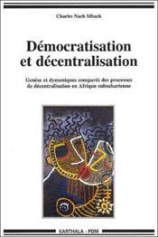 Democratisation et decentralisation - Couverture - Format classique