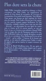 Plus Dure Sera La Chute - 4ème de couverture - Format classique