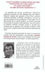 Les Pieges De La Mixite Scolaire - 4ème de couverture - Format classique