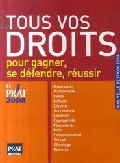 Tous vos droits pour gagner, se défendre (édition 2008) - Intérieur - Format classique
