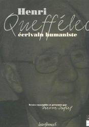 Henri Queffelec Ecrivain Humaniste - Intérieur - Format classique