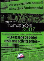 Rapport sur l'homophobie (édition 2007) - Intérieur - Format classique