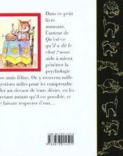 Comment Obeir A Son Chat. Manuel De Basea L'Usage Du Maitre-Esclave. - 4ème de couverture - Format classique