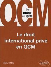 Le droit international privé en QCM - Intérieur - Format classique