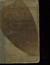 Lecture Expliquee - Couverture - Format classique