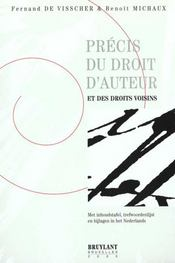 Precis Du Droit D'Auteur Det Des Droits Voisins - Intérieur - Format classique