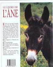 Le Livre De L'Ane - 4ème de couverture - Format classique