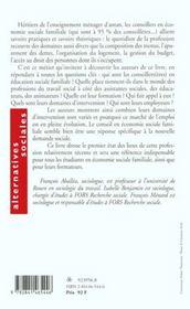 Le Metier De Conseiller(E) En Economie Sociale Familiale - 4ème de couverture - Format classique