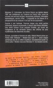 Rendez-Vous Avec Monsieur X : Les Dossiers Inedits - 4ème de couverture - Format classique
