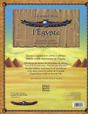 Le grand livre de l'Egypte - 4ème de couverture - Format classique
