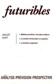 Futuribles N.90 Juillet Aout 1985 - Couverture - Format classique