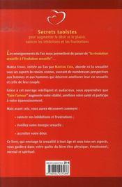 20 Cles Pour Vivre Une Sexualite Reussie - 4ème de couverture - Format classique