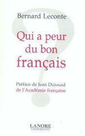 Qui A Peur Du Bon Francais ? - Intérieur - Format classique