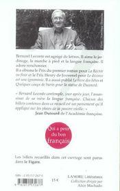 Qui A Peur Du Bon Francais ? - 4ème de couverture - Format classique