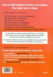 Plus de 1000 modèles de lettres et de contrats (édition 2008) - 4ème de couverture - Format classique