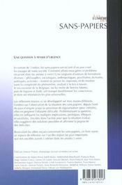A la lumiere des sans-papiers - 4ème de couverture - Format classique