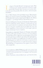 Aristide Briand ; La Paix Mondiale Et L'Union Europeenne - 4ème de couverture - Format classique