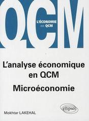 L'Analyse Economique En Qcm Microeconomie - Intérieur - Format classique
