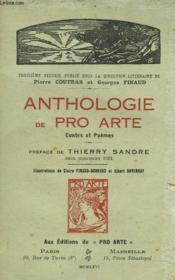 Anthologie De Pro Arte. Contes Et Poemes. Preface De Thierry Sandre. - Couverture - Format classique